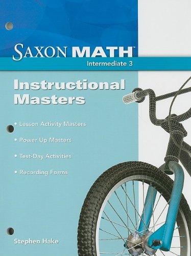 Saxon Math: Instructional Masters, Intermediate 3