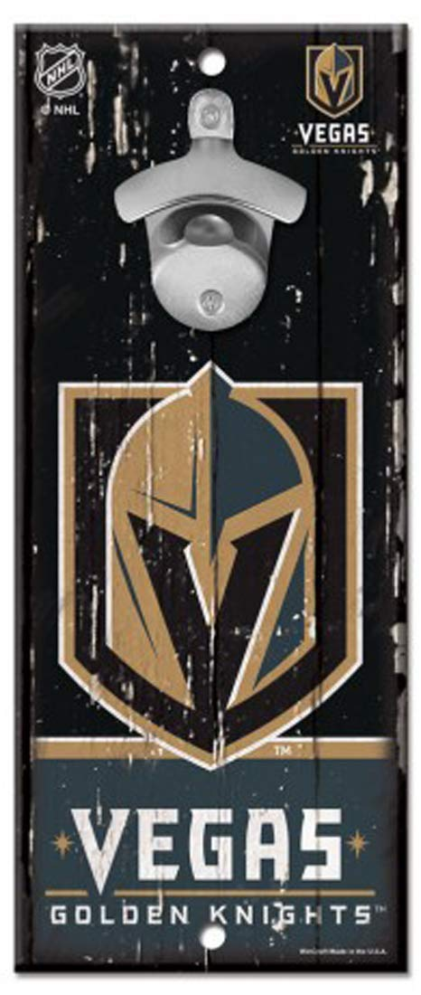 Wincraft Las Vegas Golden Knights Wood Sign Bottle Opener