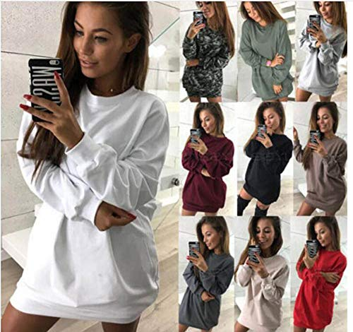 Long Felpe Donna Casual Rosa Huateng Allentato Pullover xPS4qHHt