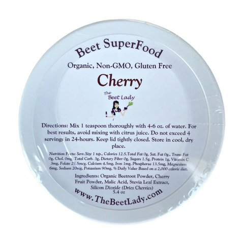 The Beet Lady - Organic Beet Superfood Powder - Cherry - 5.4 oz by The Beet Lady