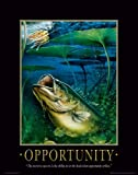 Fishing Motivational Poster Art Print Large Mouth Bass Walley Muskie Lures Poles 11×14 Wall Decor Pictures