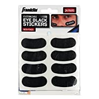 Franklin Sports Eye Black Stickers for Kids - Customizable Lettering Baseball and Football Eye Black Stickers - White Pencil Included