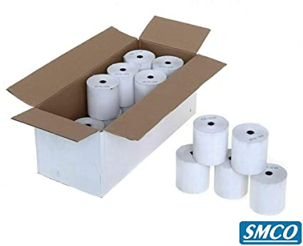 White Box - 80 x 80 mm blanco térmica hasta Roll (Pack de 20 ...