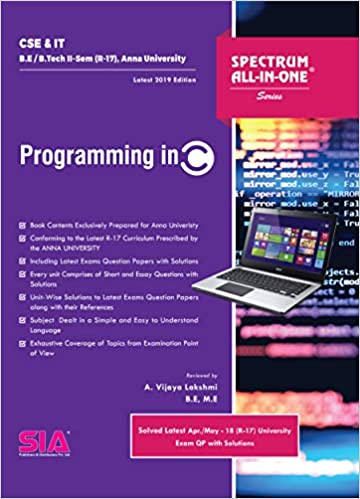 Amazon in: Buy Programming in C, B E/B Tech II-Semester (R-17) (Anna