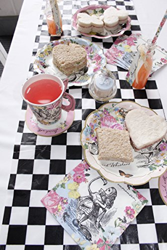 Talking Tables Truly Alice Mad Hatter Cup & Saucer for a Tea Party, Multicolor (12 Pack) by Talking Tables (Image #8)