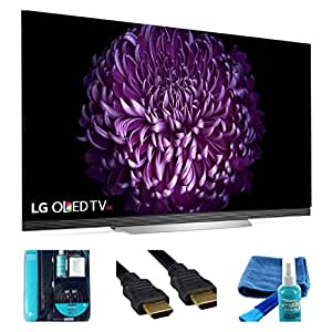 2017 Model E7 O LED 65E7P Series 65-Inch 4K Ultra High Definition HDR TV - Surge, HDMI 6ft Cable, Cleaning Kit