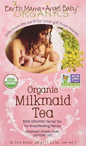 Earth Mama Angel Baby Organic Milkmaid Nursing Tea, 16 Teabags/Box