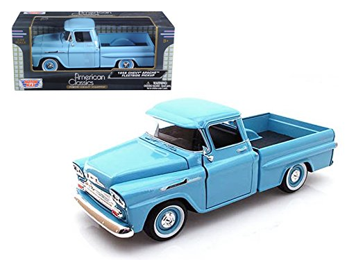 Motor Max 1:24 W/B American Classics 1958 Chevrolet Apache Fleetside Pickup Diecast Vehicle Chevy Fleetside Pickup