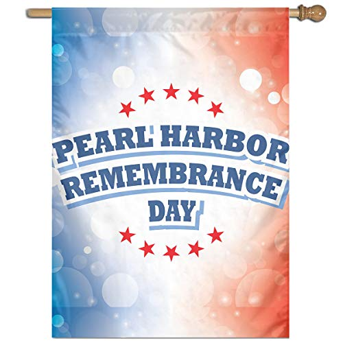 MOANDJI Garden Flag USA Pearl Harbor Remembrance Day Outdoor Indoor Flag Yard Decorations Lawn Banner 27 X 37 Inches ()