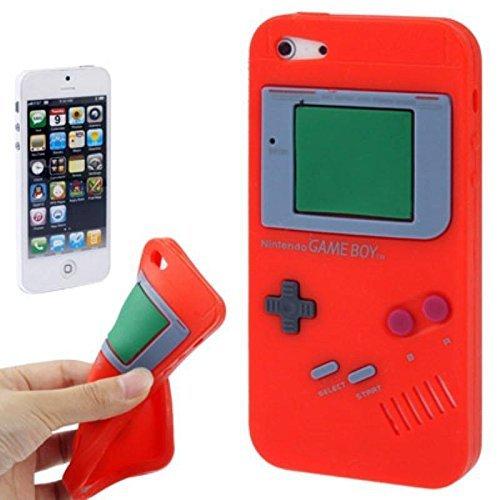 König-Shop Handy Hülle Schutz Case Cover Schale Game Boy für Apple iPhone SE Rot Neu
