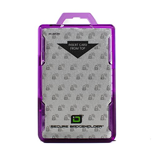 RFID Blocking Badge Holder DuoLite by ID Stronghold - FIPS Approved Badge Holder - 100% USA Made (Purple)