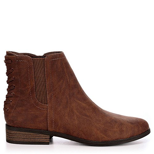 Lumenight Dylan Talon Bas Chelsea Bottines Chaussures Cognac