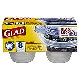 Glad Rnd Plas Cntnr 4Oz W/Lid Cle