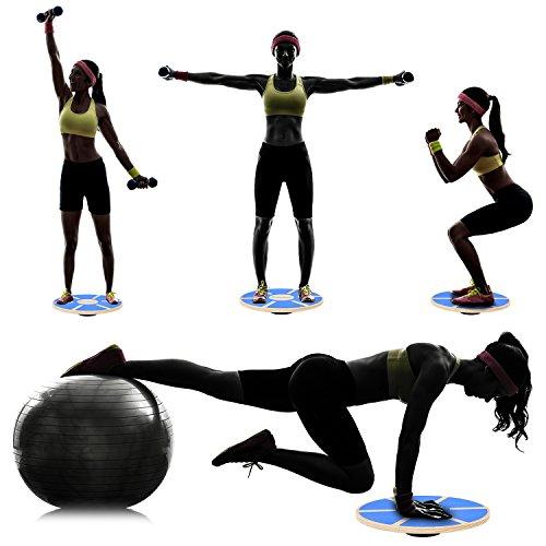 """Balance Board Za: Sportneer Wooden Balance Board, 15.7"""" Exercise Balance"""