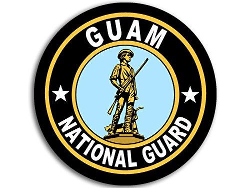 American Vinyl Round GUAM National Guard Seal Sticker (logo insignia army) (Guam Guard)