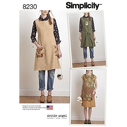 Amazon Simplicity Ladies Sewing Pattern 40 Reversible Apron Interesting Tabard Pattern