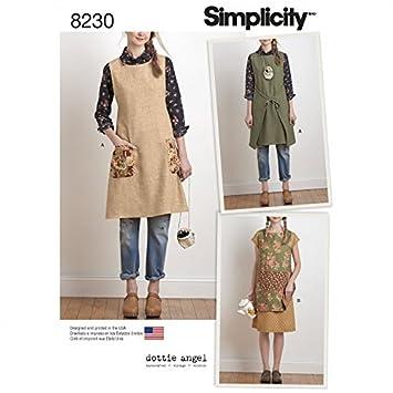 Simplicity Damen Schnittmuster 8230 wendbar Schürze Kleid ...