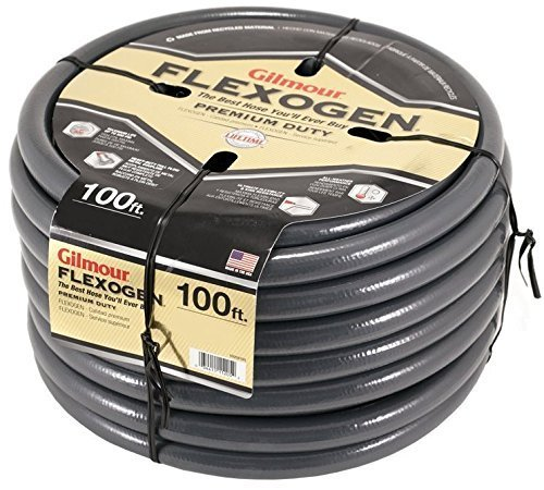 "Price comparison product image Gilmour 1034100 Flexogen Garden Hose 3/4"" X 100', Gray by Gilmour"