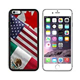MSD Premium Apple iPhone 6/6S Plus Aluminum Backplate Bumper Snap Case iPhone6 Plus IMAGE ID 32559273 Close up of the flags of the North American Free Trade Agreement NAFTA members on textile texture