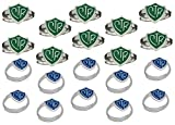 ''Adjustable CTR Ring'' - 20 Pack - Green and Blue - H14G - H14B