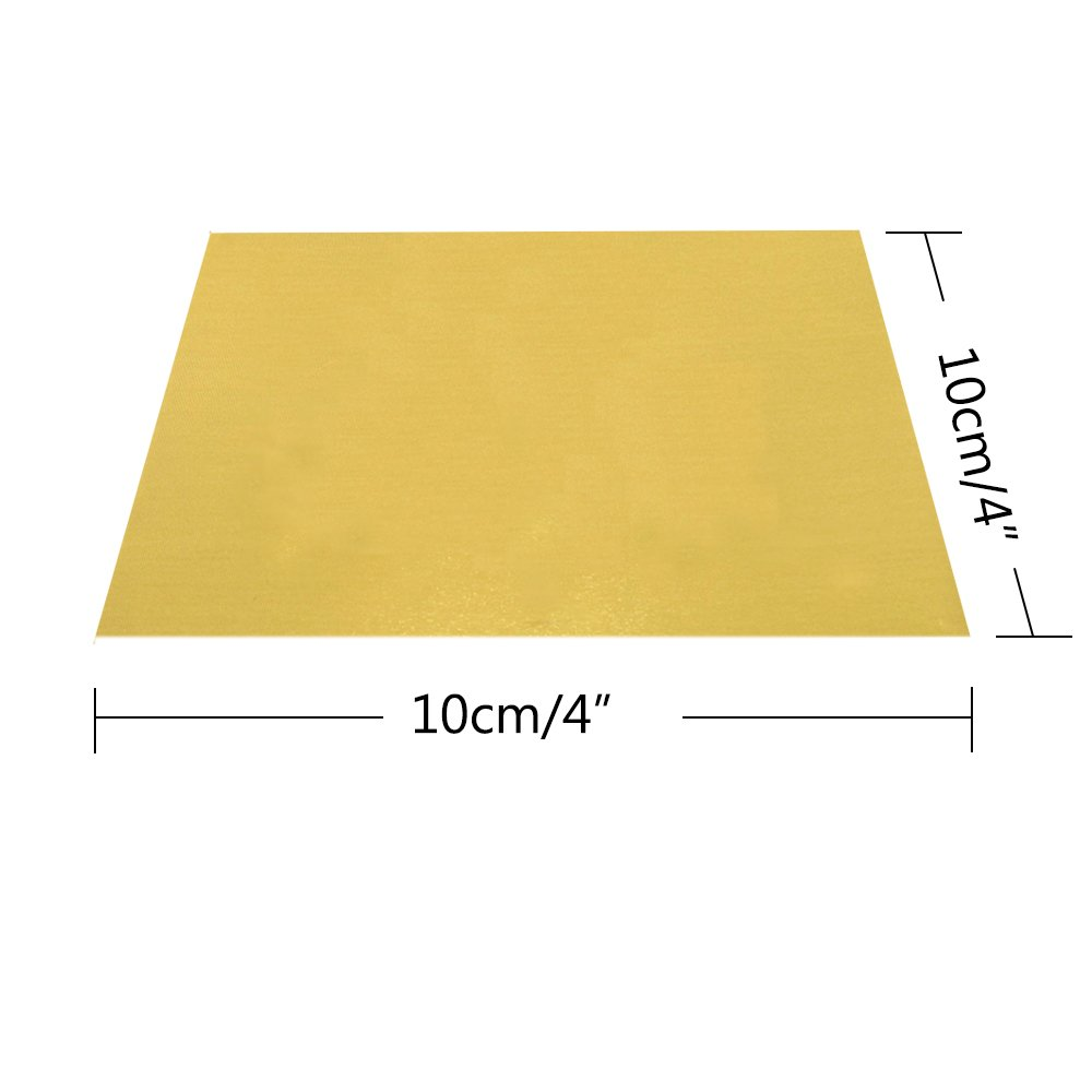 BAKHUK 200pcs 4'' Square Gold Aluminium Foil Paper Candy Wrappers Chocolate Wrappers for Packaging Candies and Chocolate
