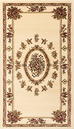 Well Woven Pastoral Medallion Ivory French 2x4 (2