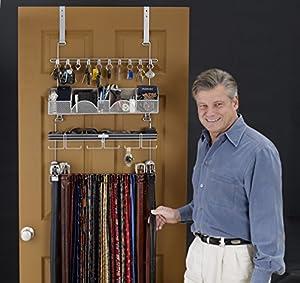 men 39 s over the door wall belt tie valet. Black Bedroom Furniture Sets. Home Design Ideas