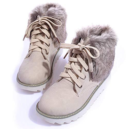 Vovotrade De Cálido Botas Nieve Beige Encantadoras Zapatillas Plataforma Deportivas Damas Moda Y Cómodas Botines Invierno Para Mujer Algodón rr54qwP
