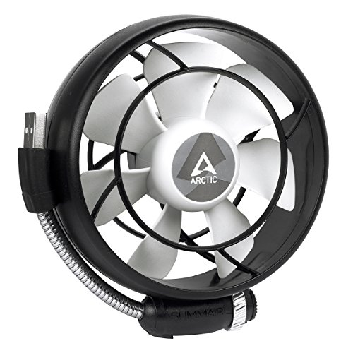 ARCTIC Summair Light - Portable USB Fan for Office I Desktop Fan Cooler for Computer, Laptop, MacBook I Silent Fan - ()