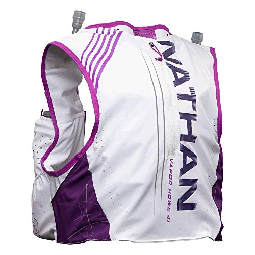 Nathan Women's Hydration Pack/Running Vest - VaporHowe 4L 2.0-4L Capacity with Twin 20 oz Soft flasks Bottles, Hydration Backpack - Running, Marathon, Hiking, Outdoors, Cycling and -