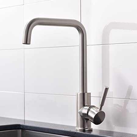 Taps Uk Highly Recommended Single Handle Brushed Nickel Finish Spout