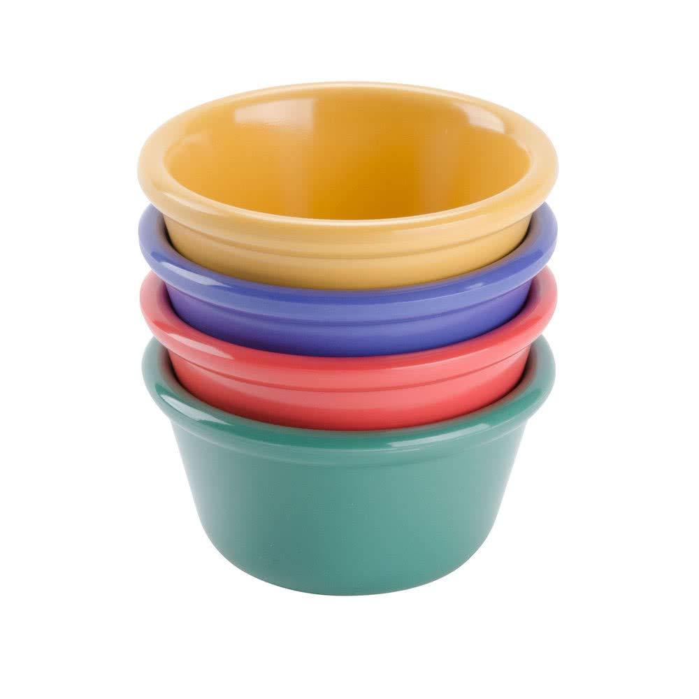Ramekin GET G.E.T Enterprises Mix Pack of 4 Mardi Gras Colors 4 oz Break Resistant Dishwasher Safe Melamine Plastic Pack of 12 Ramekins Collection RM-400-MIX