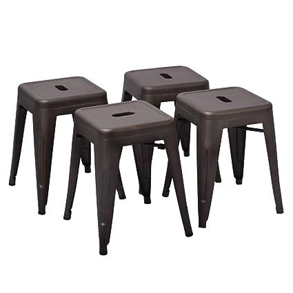 Amazoncom Changjie Furniture 18 High Backless Metal Bar Stool