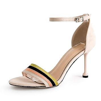 157ed2e5b0d Sandalias para mujer Tacones Altos para Mujer Verano Sandalias de Cristal  Zapatos Romanos para Mujeres Zapatos
