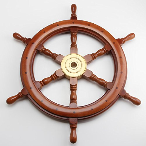 舵輪24 STEERING WHEEL 真鍮 船舶 B0168UBULS