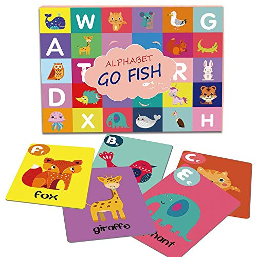 Alphabet Go Fish Cards Fun and Educational Learning Memory Matching Game for Kids- 52 - Games Alphabet Card