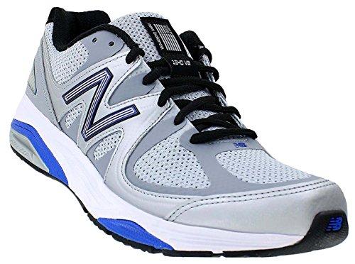 New Balance Men's M1540V2 Running Shoe, Silver/Blue, 12 4E US