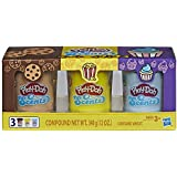 Play-Doh Scents 3 Pack of Snack Scented Modeling Compound for Kids 3 Years & Up, 4 Oz Cans, Non-Toxic