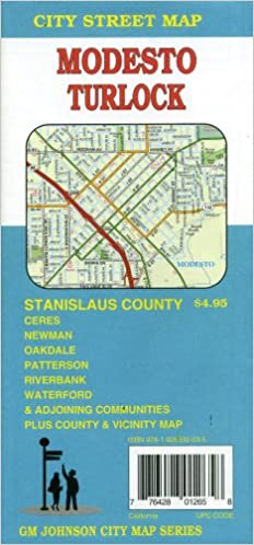 Newman California Map.Modesto Stanislaus County Ca Street Map G M Johnson