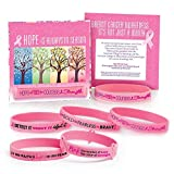 Breast Cancer Awareness: Assorted Pink Silicone Bracelets- 50 Bracelets Per Pack