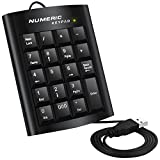 Numeric Keypad, DLAND Ergonomic USB 19 Keys Numeric Numerical Keypad external Number Keyboard Pad for Windows Desktop PC Notebook Laptop