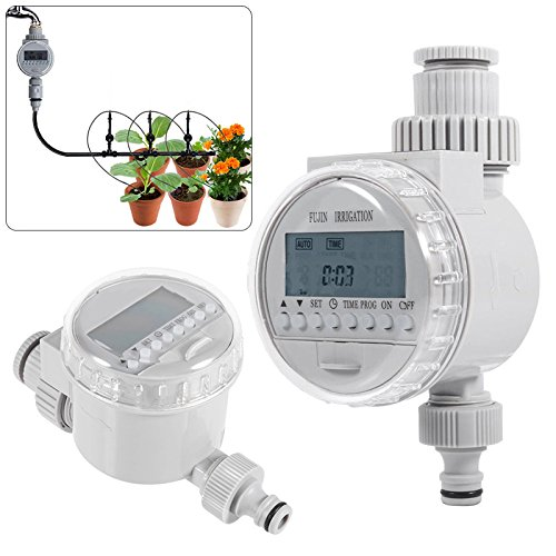 xinyuanjiafang Garden Watering Timer Solar Digital LCD Auto Watering Timer Water Saving Irrigation Controller Watering System