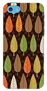 DailyObjects Dark Trees Case for iPhone 5C Back Cover Brown