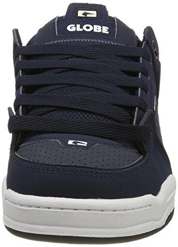 Globe Fusion, Zapatillas de Skateboard para Hombre Azul (Navy/red)