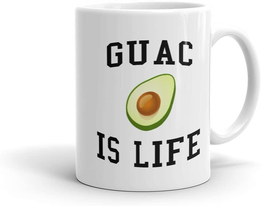 Guac is life guacamole Mug funny food Mug i love food Mug avocado Mug gift for friend college Mug gift for her Mug with guac Mug