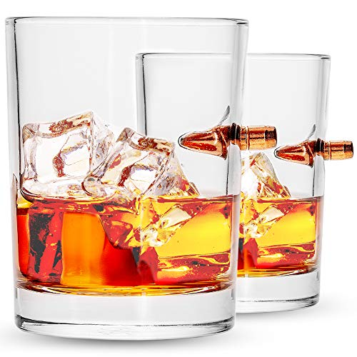 .308 Real Bullet Handmade Whiskey Glass Set of 2