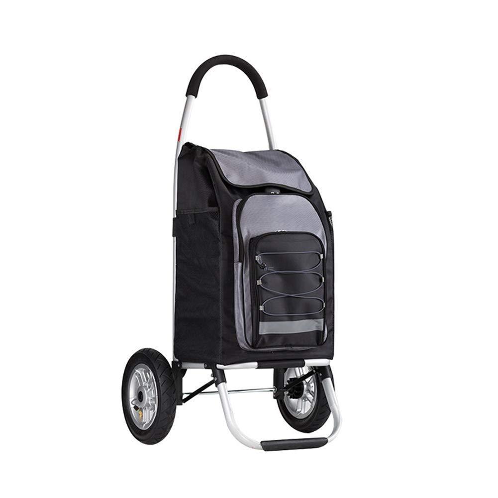 KOGK 55L Plegable Carrito de Compras, Peso Ligero Gran Capacidad de aleación de Aluminio Andador Carga máxima 30-40kg-Hard Wearing fácil de Almacenamiento ...