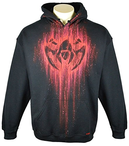 League Of Legends Hoodie Custom Airbrushed Assassin Design, Pullover, Adult, XL, Black