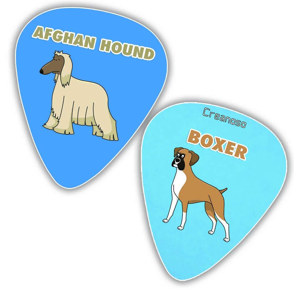 Dog Eagle Sloth Horse Panda Wolf Plectrum Medium Celluloid Creanoso Animal Guitar Picks 12-Pack