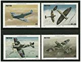 World War 2 fighter planes stamps issued in 1986 Nevis / Mint and unmounted